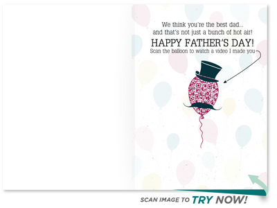 Balloon Father's Day Card