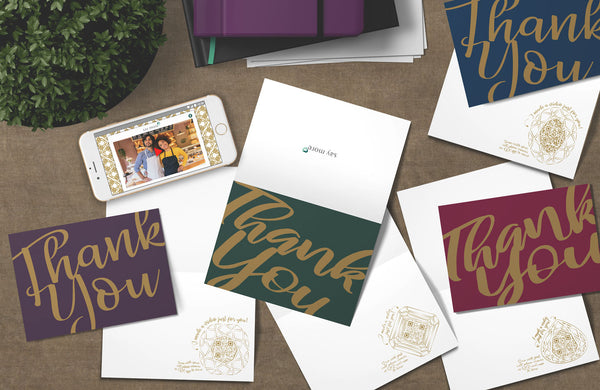 Jewel Tone Thank You Collection