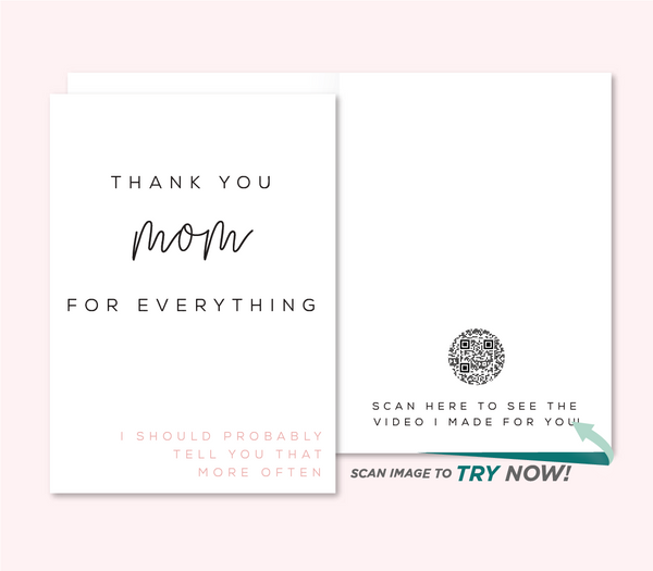 Thank You For Everything | Mother's Day Card