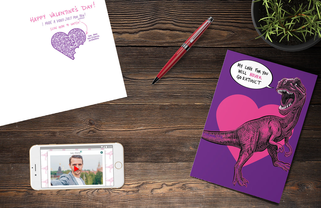 Never Go Extinct Valentine's Day Card
