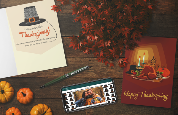 Pilgrim Hat Thanksgiving Card