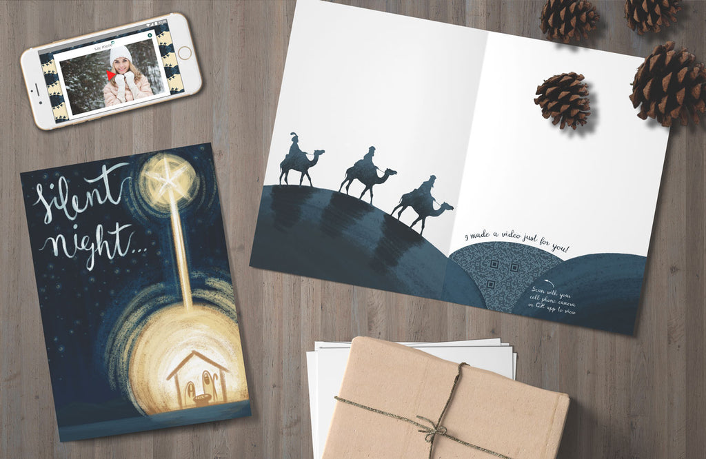 Silent Night Christmas Card - Order Unique Holiday Cards Today | Say ...