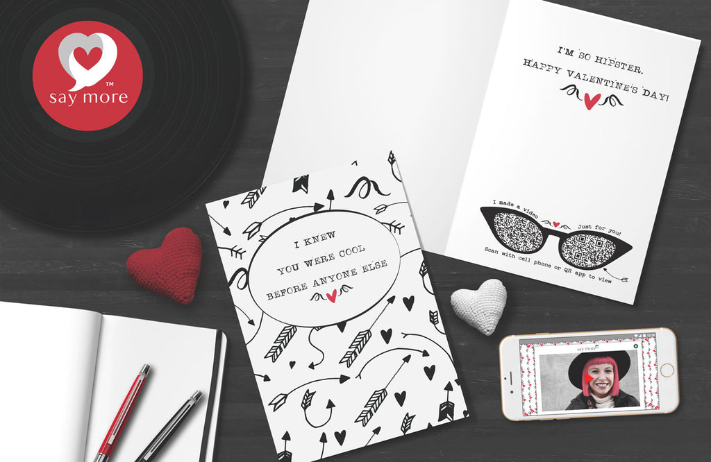 So Hipster Valentine's Day Card
