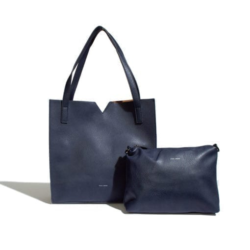 Alicia Tote Bag Pebbled Navy