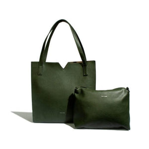 Alicia Tote Bag Pebbled Olive