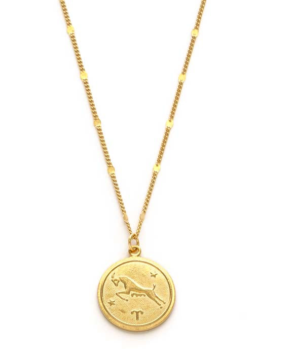 Zodiac Coin Necklace - Aries