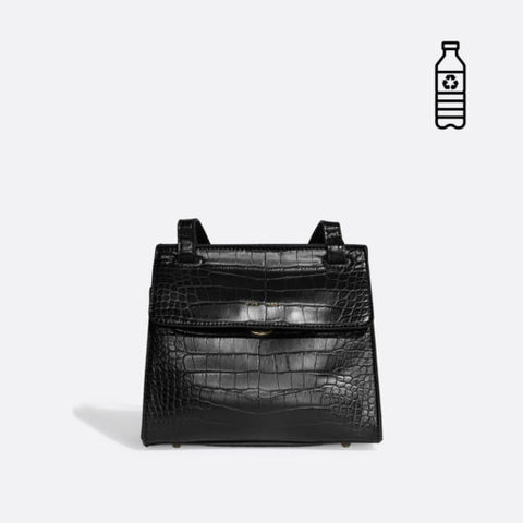 Christy Crossbody Black Croc