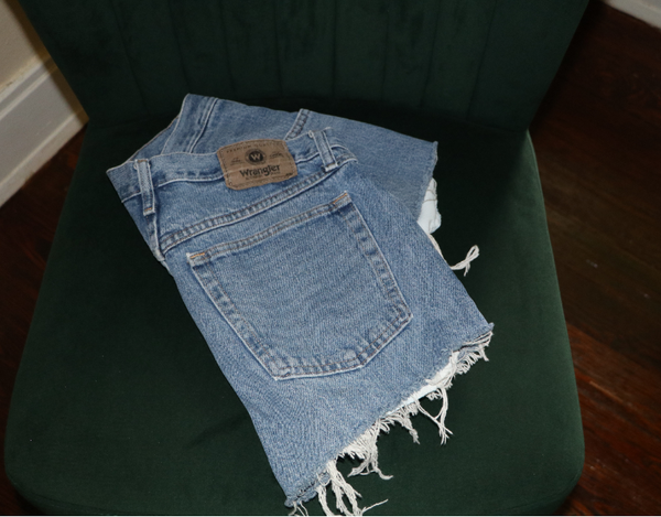 Wrangler Vintage High Waisted Denim Shorts