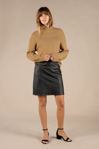 Vegan Black Mini Skirt