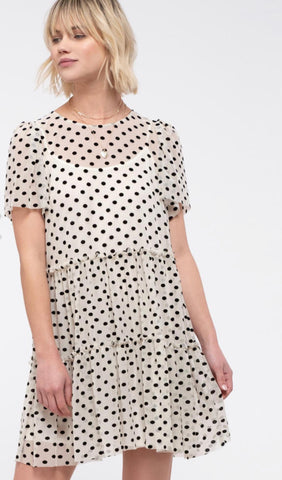 Tiered Polka Dot Dress