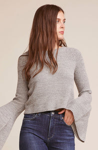 Bell Sleeve Sweater Grey