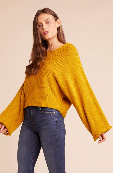 Cropped Mustard Sweater