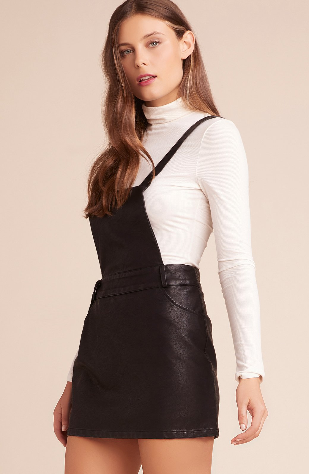 Black Vegan Leather Jumper