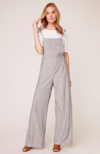 Striped Overall Jumpsuit