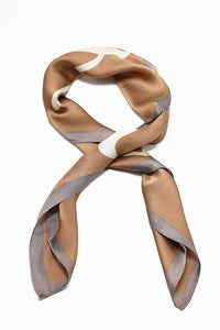 Tan Love is in the Air Print Scarf