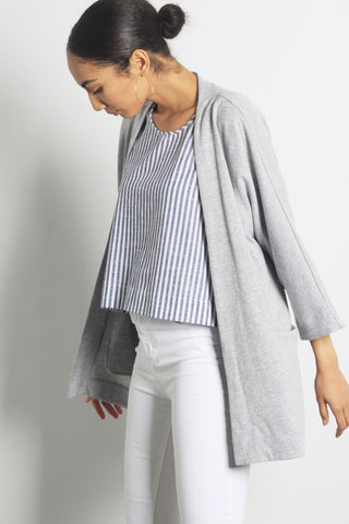 Mateo Grey Cardigan Sweater