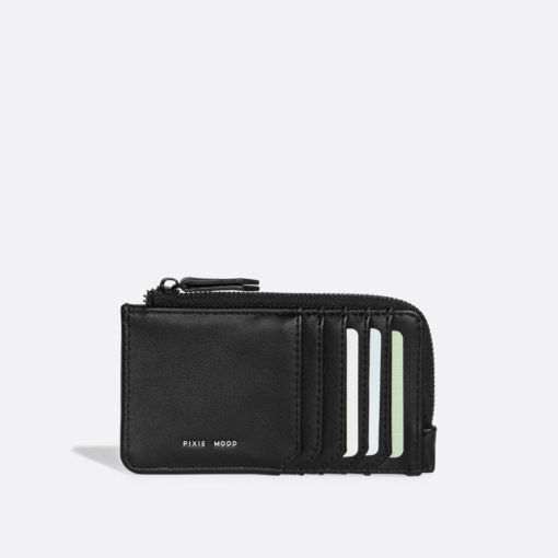 Quinn Card Wallet Black Croc