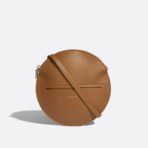 Phoebe Circle Crossbody Bag Cognac