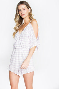 Cold Shoulder Lavender Romper