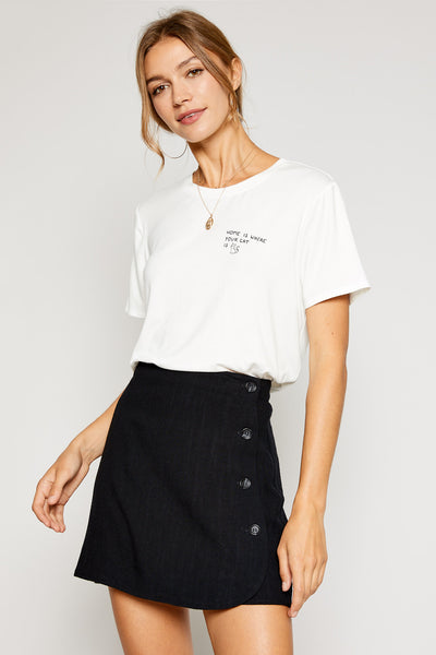 Cropped Cat Graphic Tee