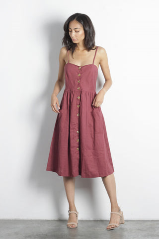 The Berit Dress Burgundy