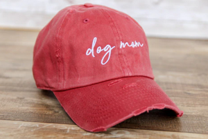 Dog Mom Hat Maroon