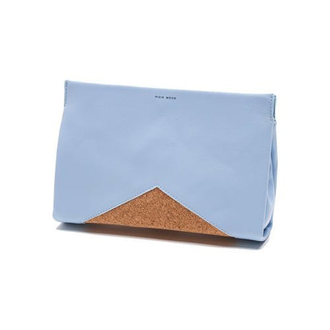 Margaret Clutch Blue & Cork