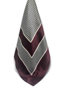 Burgundy Dot Scarf