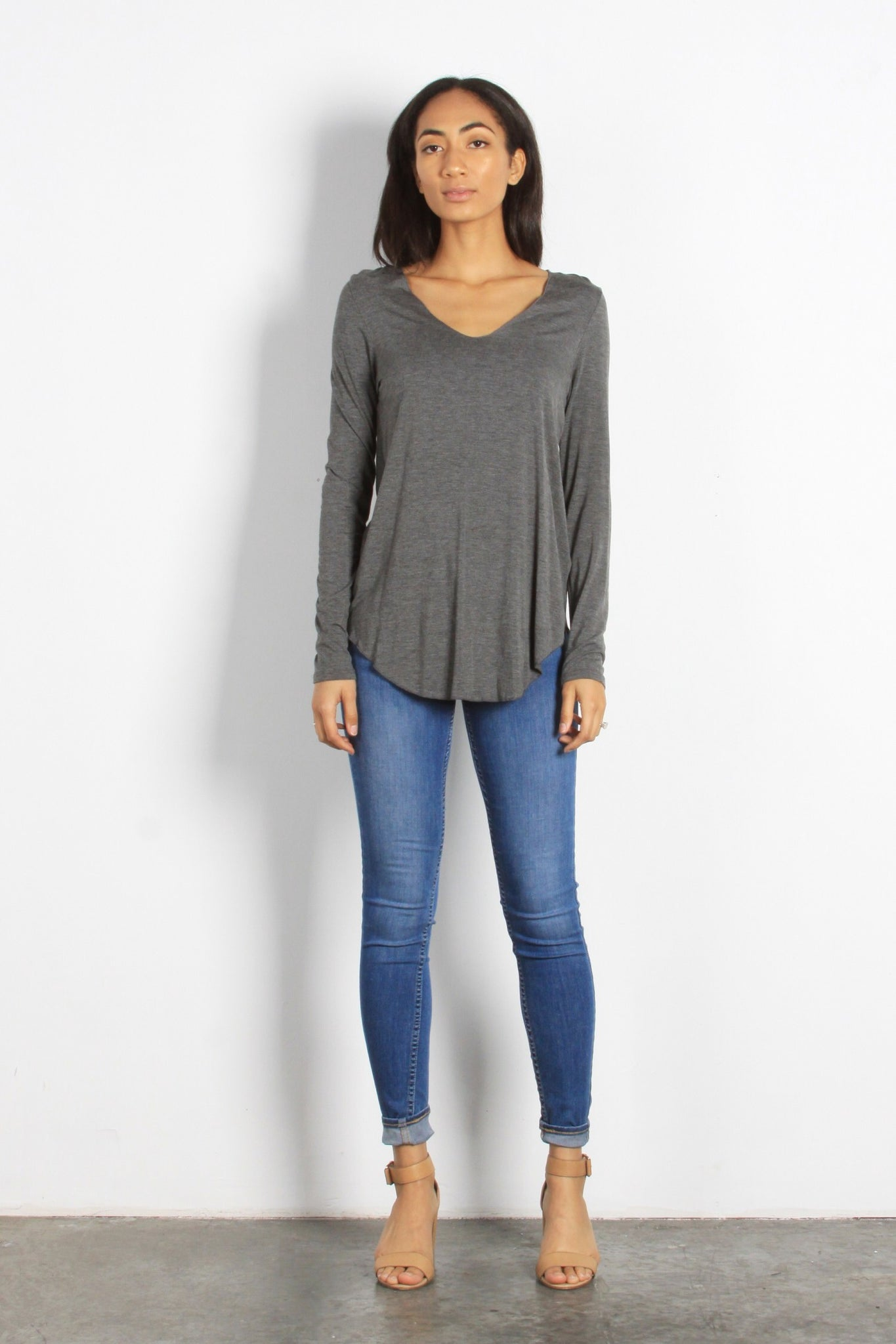 Charcoal Everyday Long-Sleeve Top