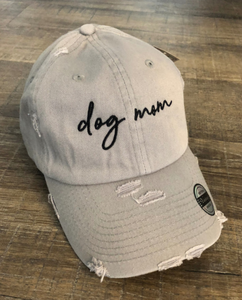 Dog Mom Hat light Grey
