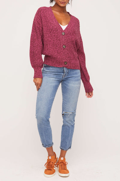 Short Cardigan Burgundy