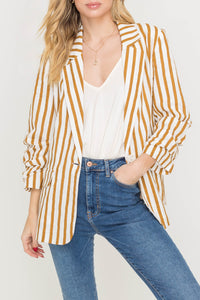 Brown Striped Blazer