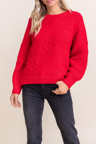 Lush Red Heart Sweater