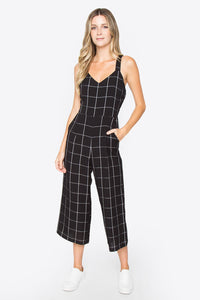 Check Print Jumpsuit