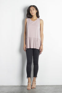 Luna Blush Ruffle Hem Top