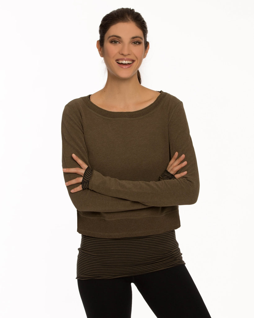 Confident Crop Sweatshirt - Nancy Rose Performance