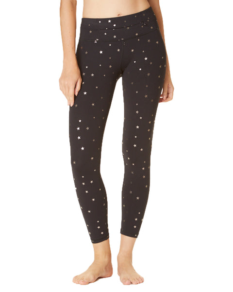 Metallic Star Print 7/8th Pant