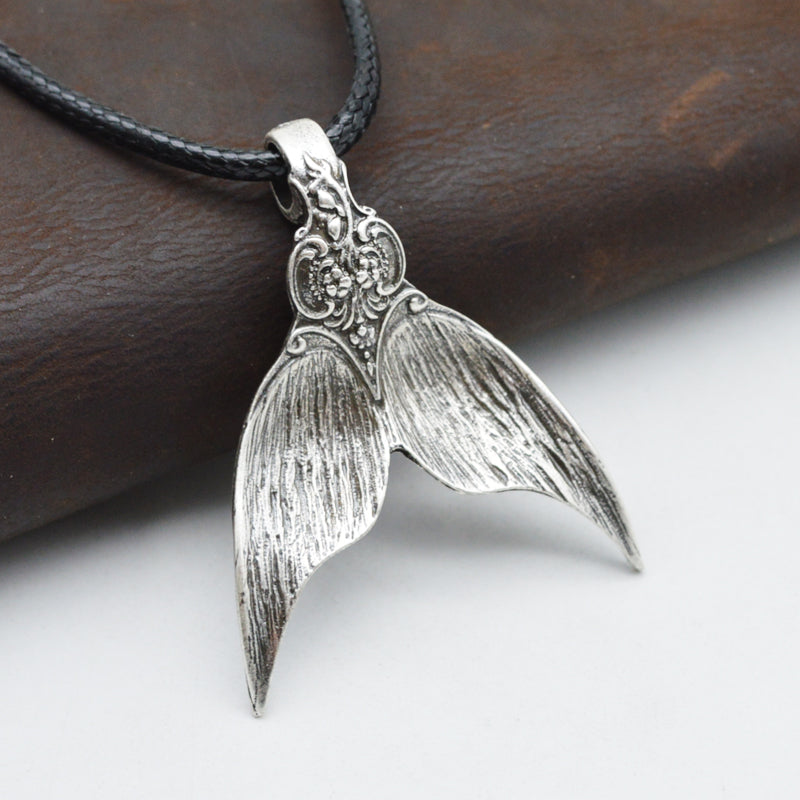Mermaid Fin Spirit Amulet Necklace