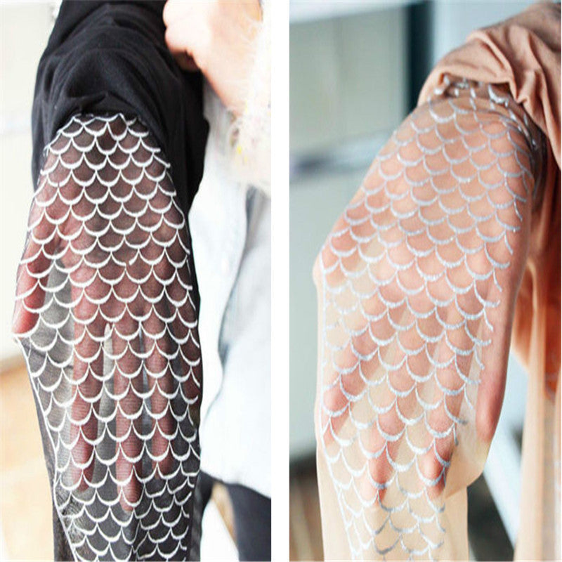 Mermaid Fin Tattoo Tights
