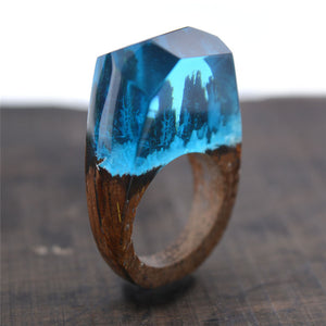 Mini Magic Forest Wooden Resin Ring