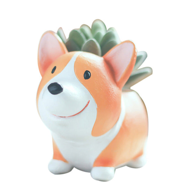 Corgi Planter for Flowers or Succulents