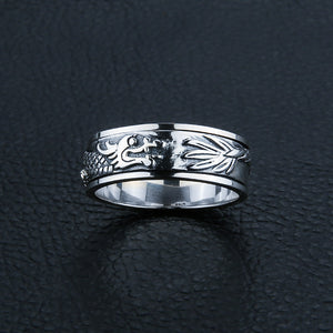 Fierce Sterling Silver Dragon Ring