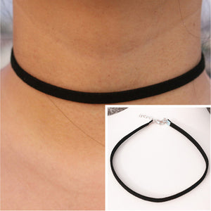 Vintage Lace and Suede Choker Necklaces