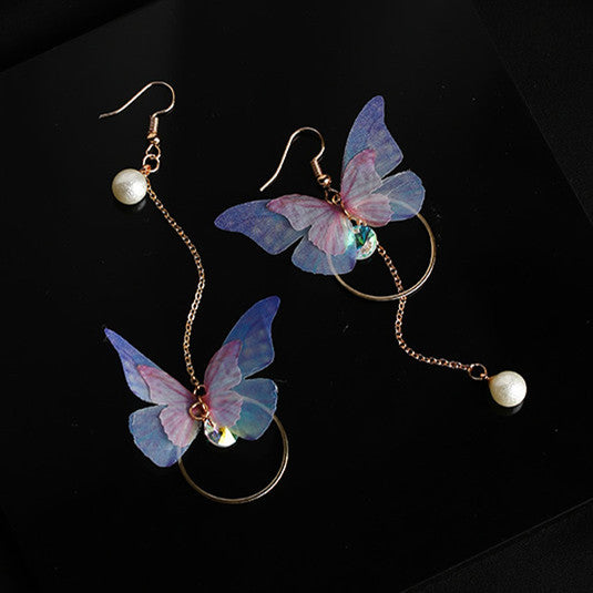 Delicate Faerie Butterfly Drop Earrings