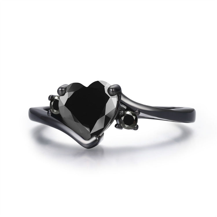 Goblin Black Heart Ring