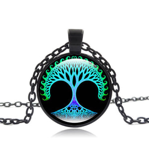Life Tree Colorful Pendant Necklace