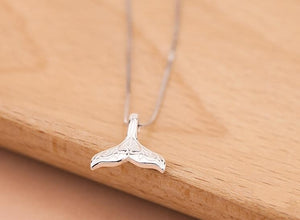 Silver Mermaid Fin Necklace