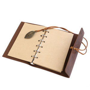 Vintage Style Leaf Journal