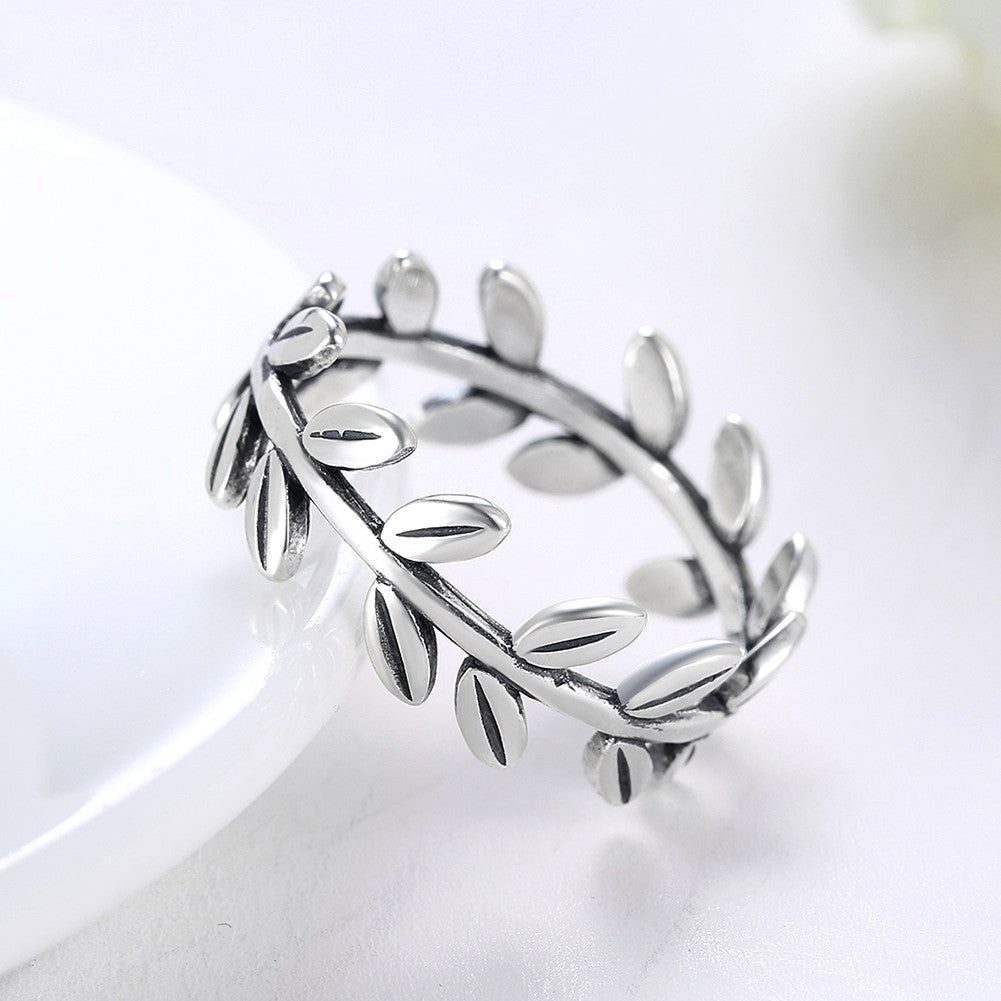 Sterling Silver Faerie Leaf Ring