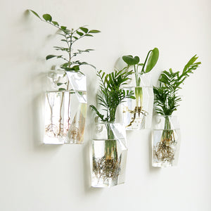 Suspended Glass Wall Planters